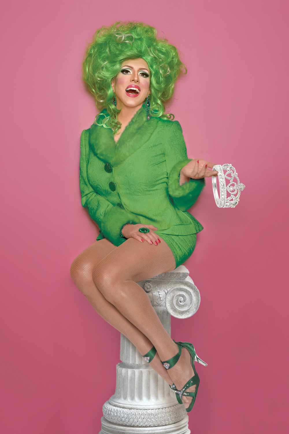 Hedda Lettuce, New York City's premiere drag queen personality.