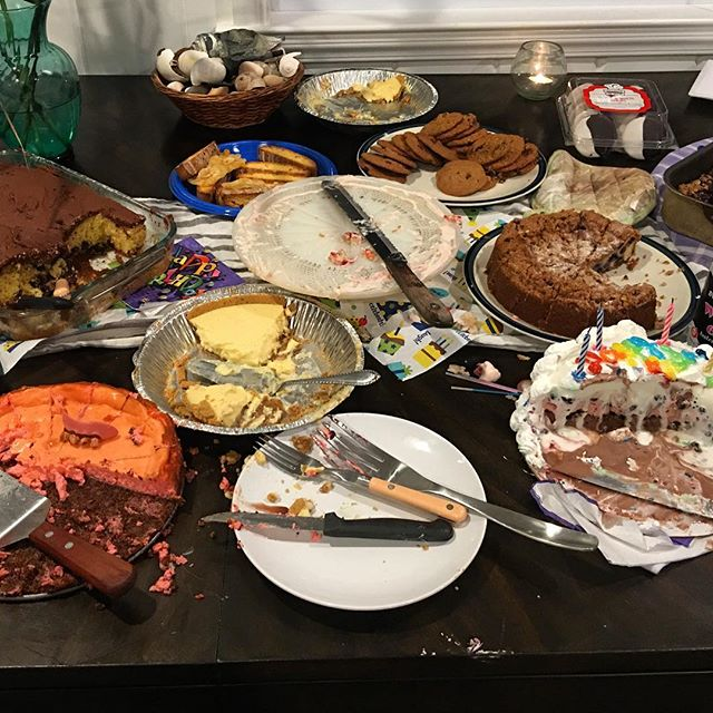 I went to a dessert birthday party last night. It ended up being a bloody massacre. The sugar high was legendary! Can you spot the item that does not belong in the picture. Good luck! . . . #cherrygrove #heddalettuce #cherrygrovefireisland #desert #birthday #doesnotbelong