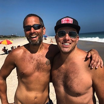 Great beach day with my friend Shaun. I am crossing over into my daddy years. Anyone need a daddy? I come with my own wood paneled station-wagon. . . . #heddalettuce #cherrygrove #cherrygrovefireisland #heddalettucenyc #daddykink #daddy #whosyourdaddy
