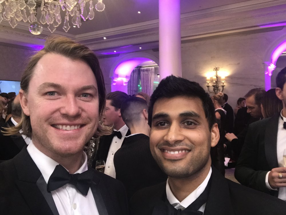 Culinary Director Benn Hodges (left) & EatFirst Founder Rahul Parekh (right) at the awards ceremony