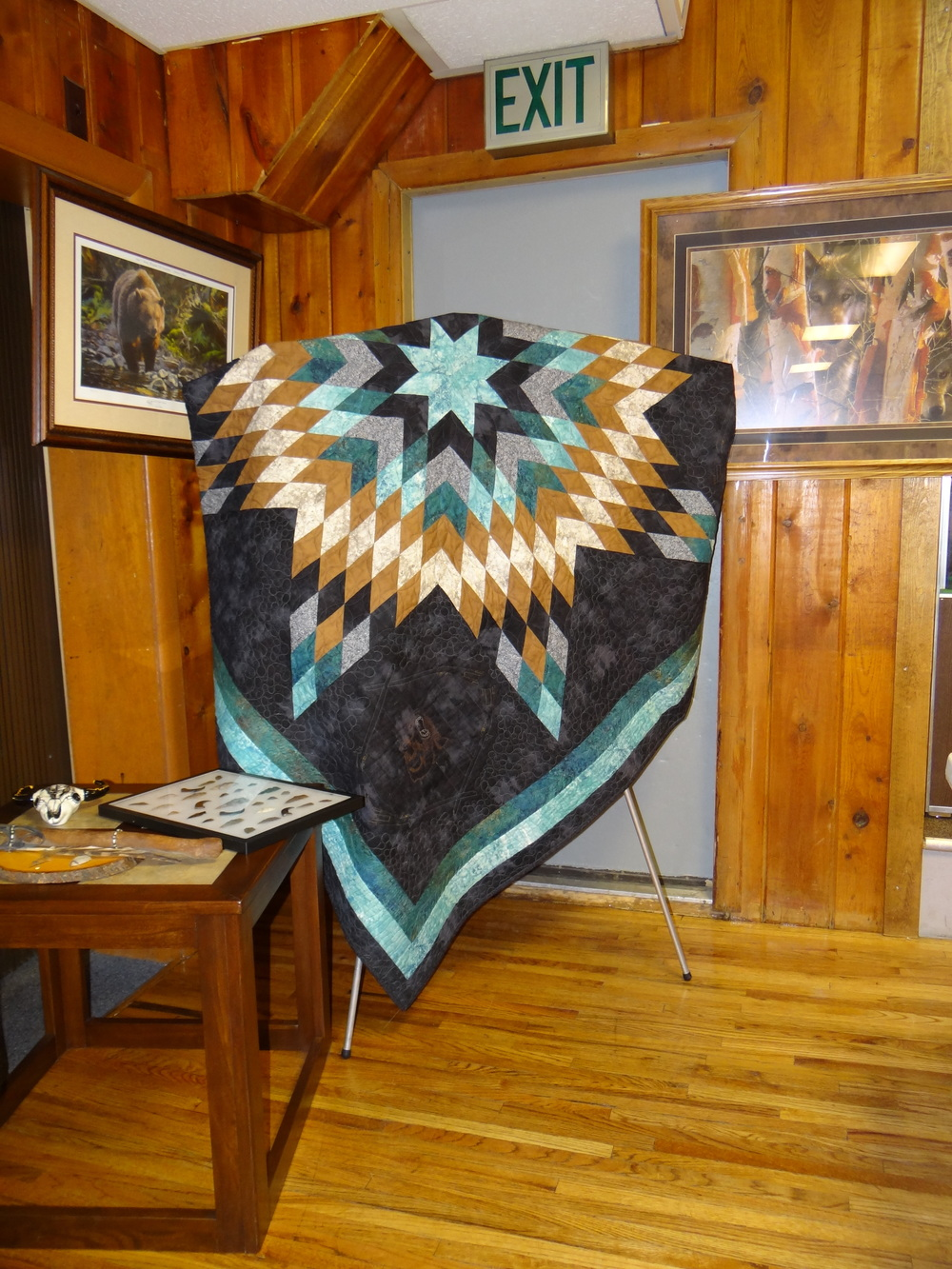 Hand made Star Quilt by Noelle Benson.