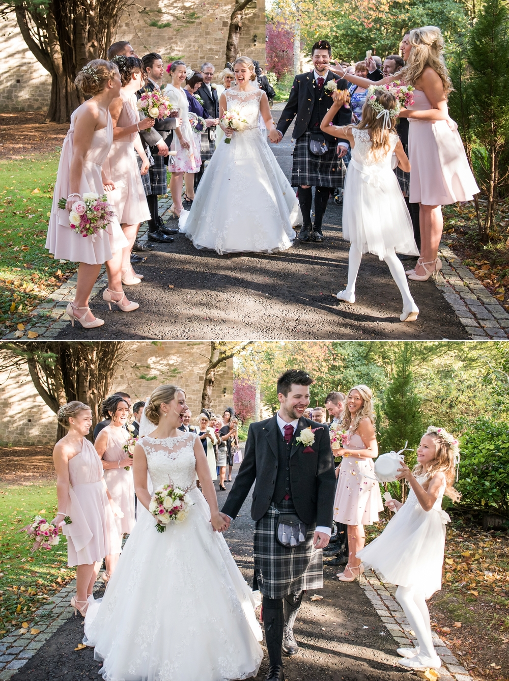 Kelly ross carberry tower braw brides the stress organising a wedding melted away and i knew it was all worth it in that moment it was the happiest moment in my life so far ombrellifo Image collections