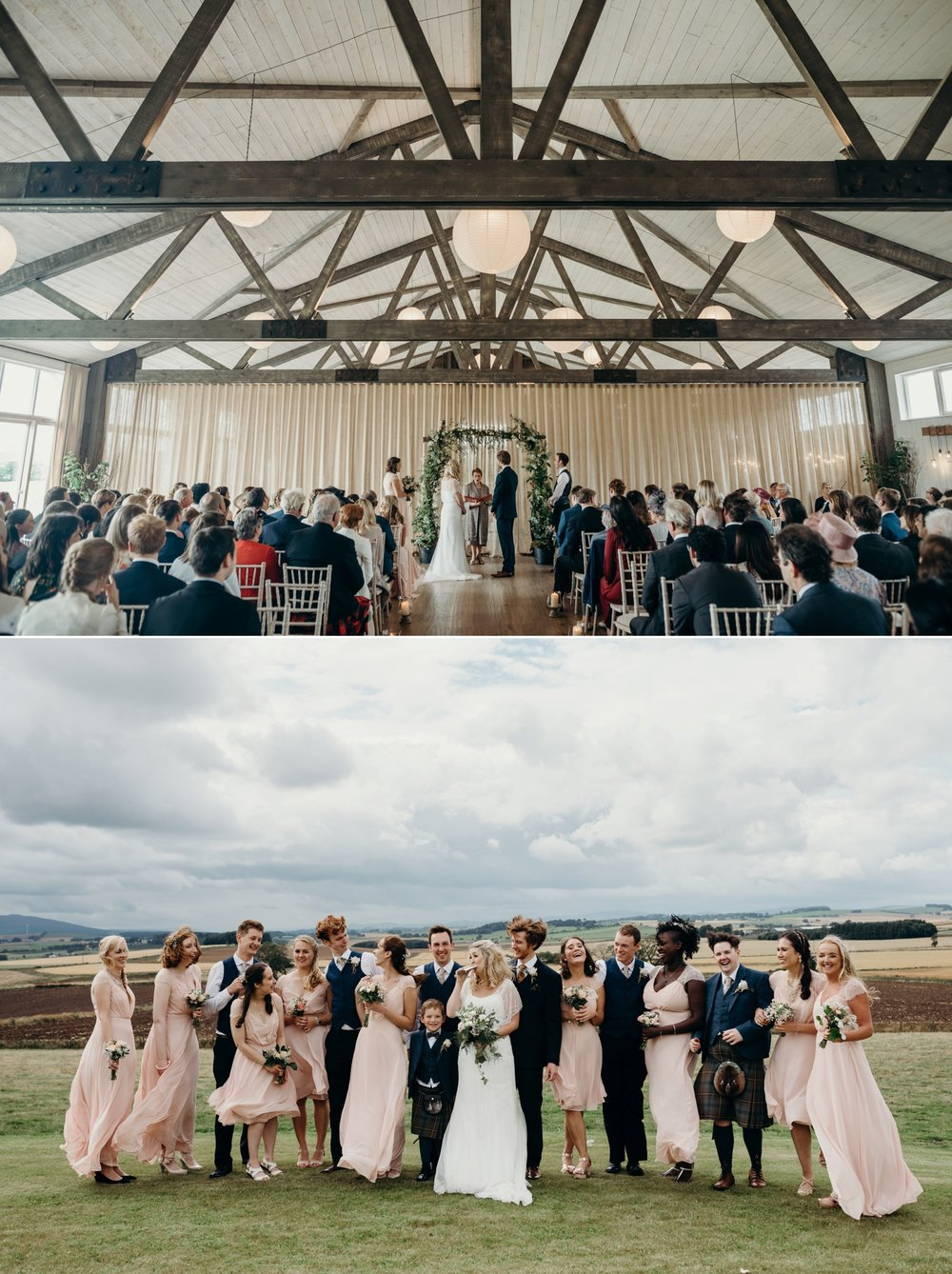 Fiona + Josh had a family affair with a squad of nine bridesmaids // Images by  Hayley Fraser Photography