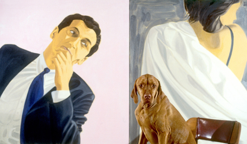 Winnie & painting by David Salle