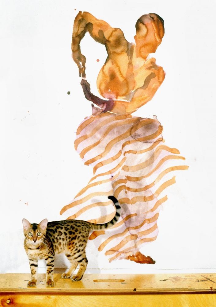 Bebop & watercolor by Eric Fischl