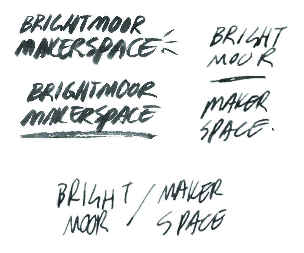 Fig 1: The hand-lettered wordmarks