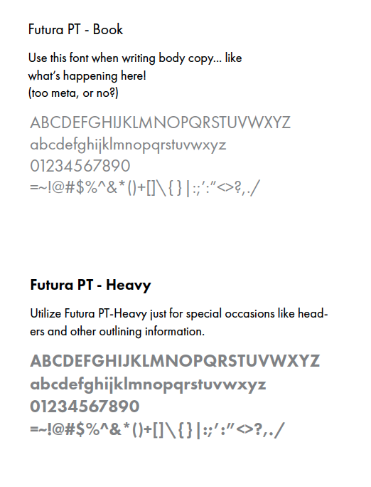 The typeface guide