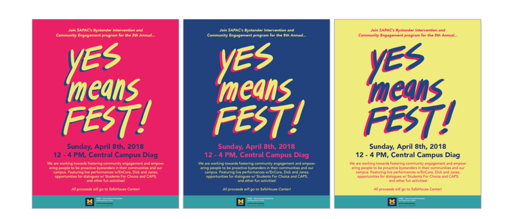 "Branding for ""Yes Means Fest"""