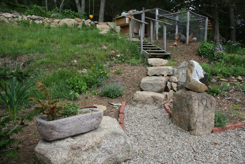 boulders and staircase, photo from summer