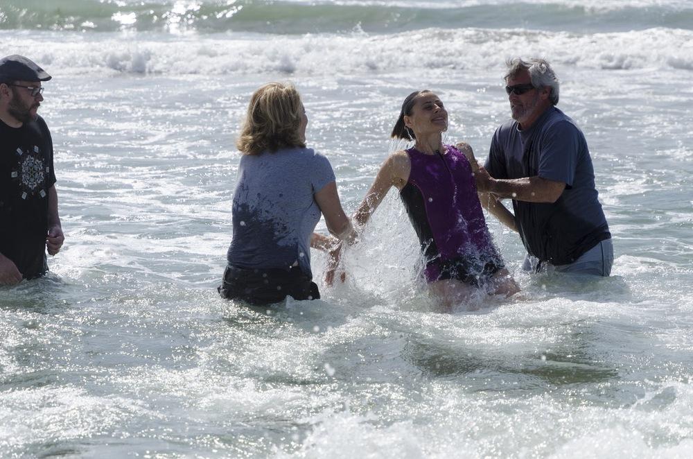 Westside Vineyard Church  Easter Baptisms  on Venice Beach  Learn More