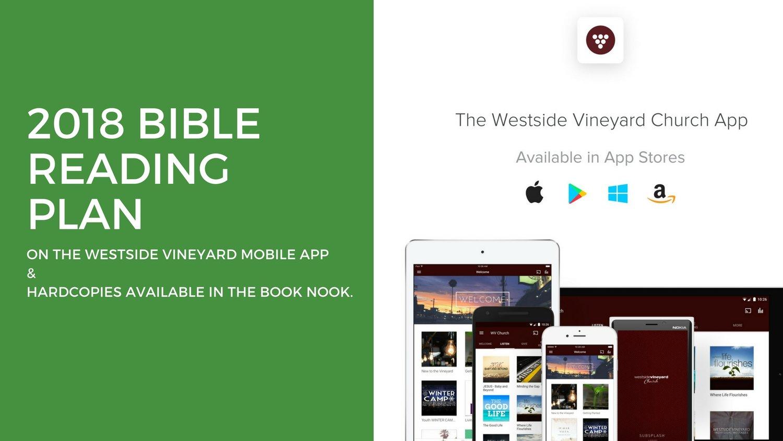 Bible Reading Plan — Westside Vineyard Church
