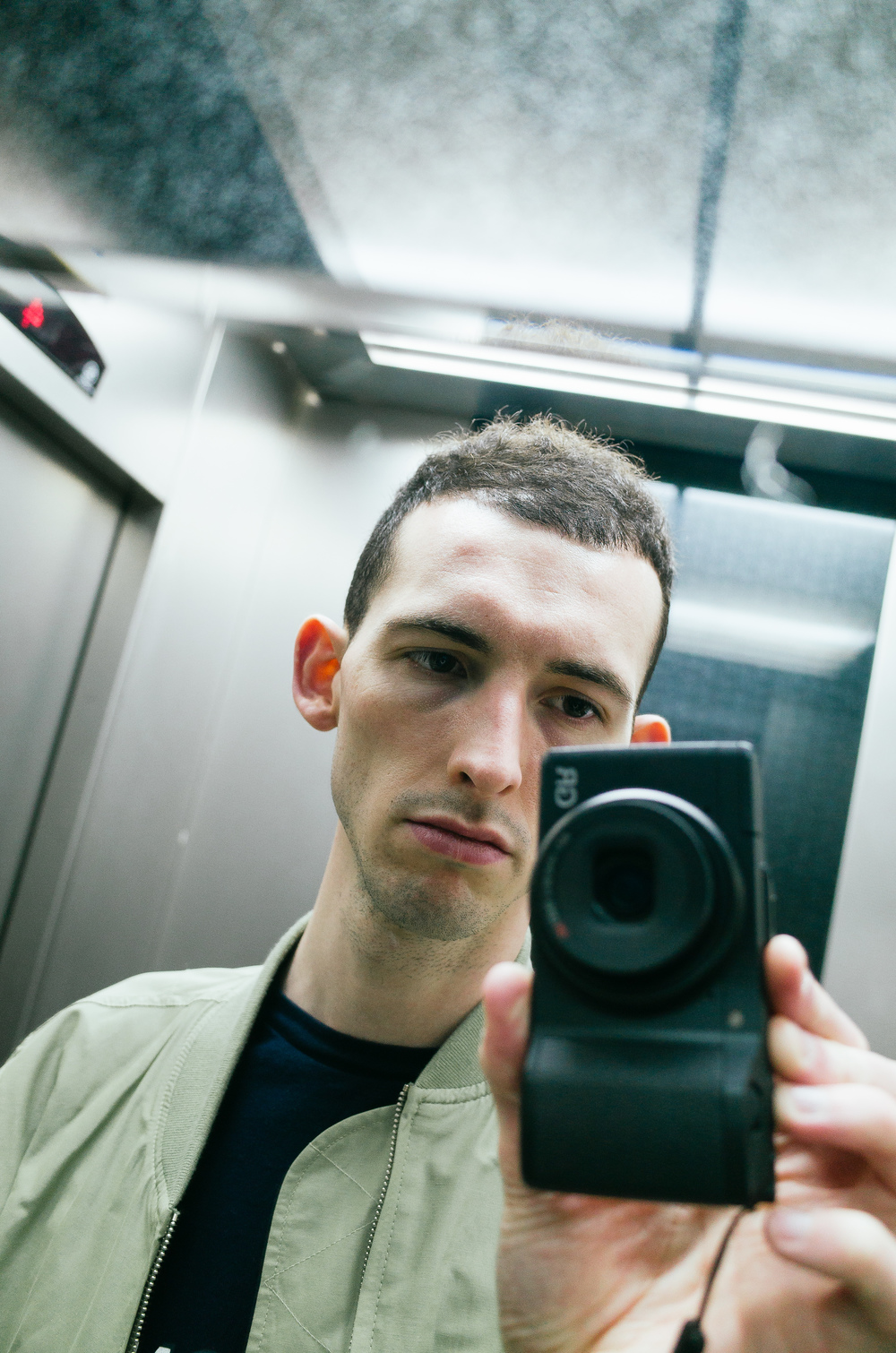 Me. In a lift.
