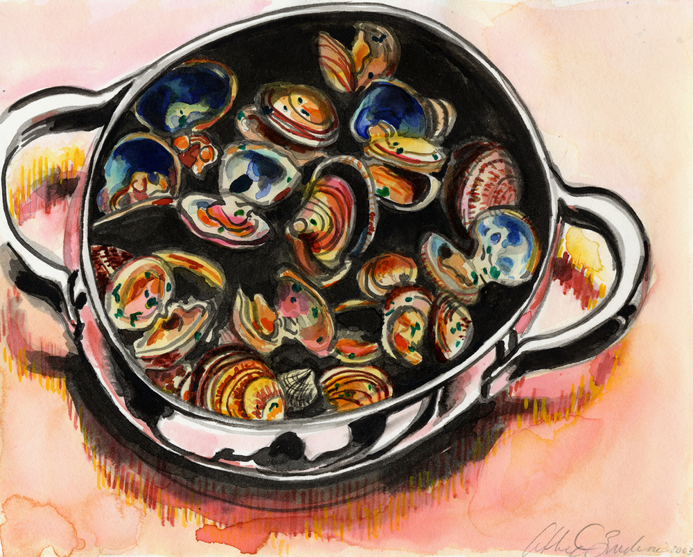 cockles, 2003, Watercolors & Colored inks on paper, 9.5x7.5.jpg