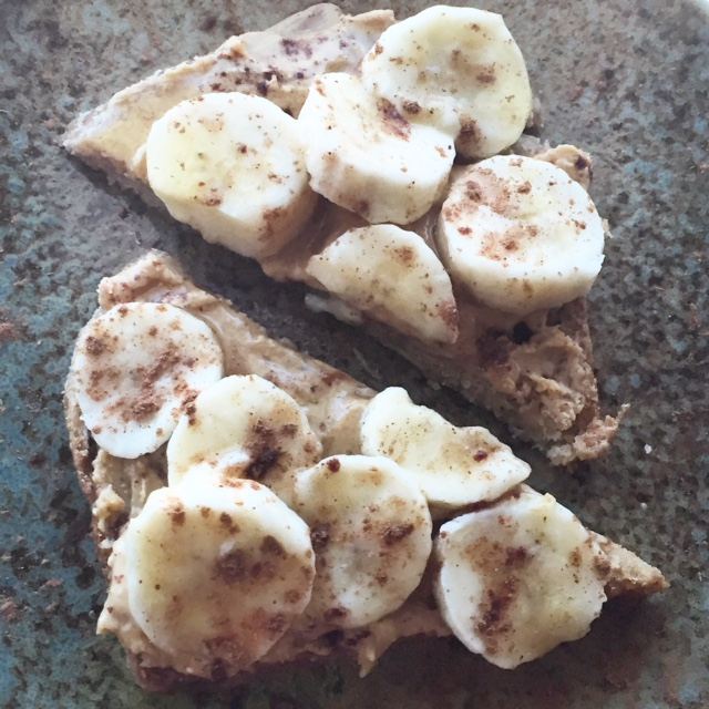 "The very same day I wrote this blog, my daughter came home from school and asked for this snack: ""Bread with peanut butter -- no, cashew butter -- with pieces of banana and honey on top."" The cinnamon was my idea, but I think it makes the snack."