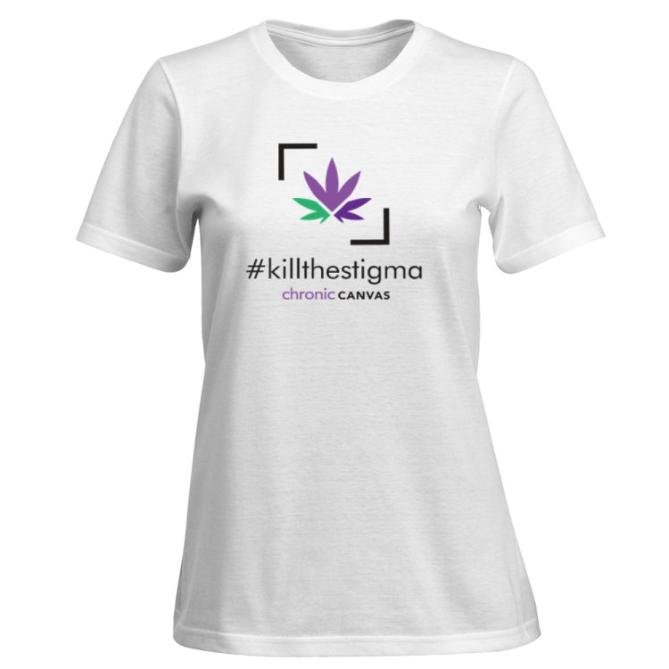 Women's KillTheStigma White T-shirt  /  $30