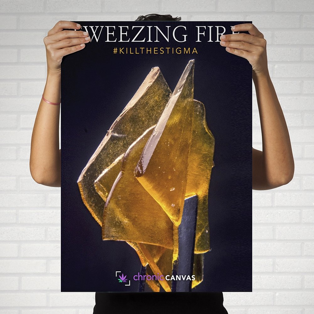 Tweezing Fire Poster  /  $25 - $35
