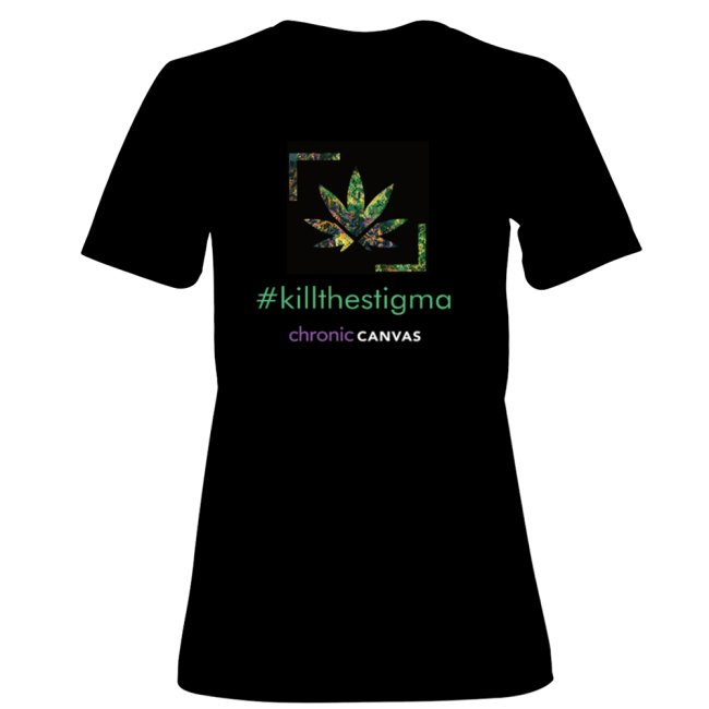 Women KillTheStigma Black T-shirt  /  $30