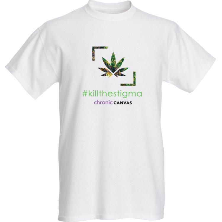 Men's KillTheStigma White T-shirt /  $30