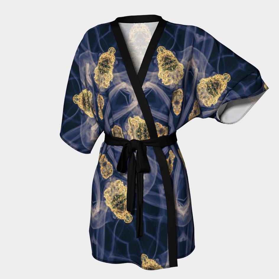 Smoky Buds Mandala Kimono Robe /  $90