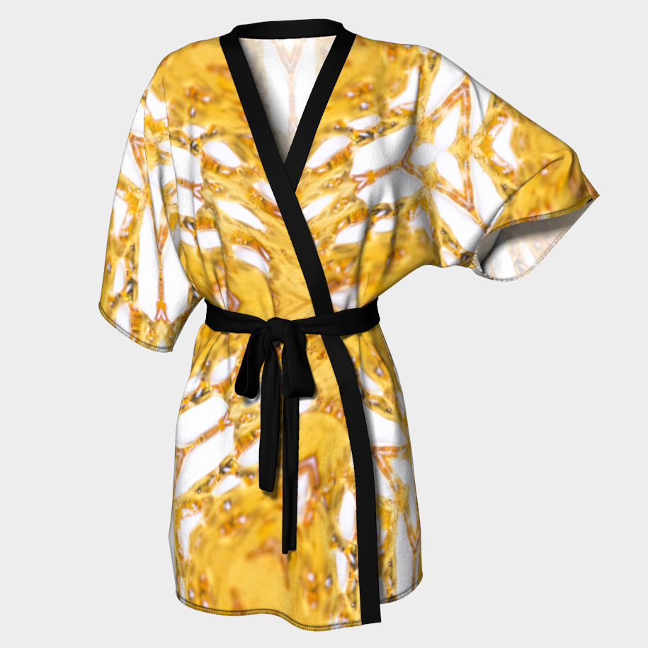 White Shatter Kimono Robe / $90