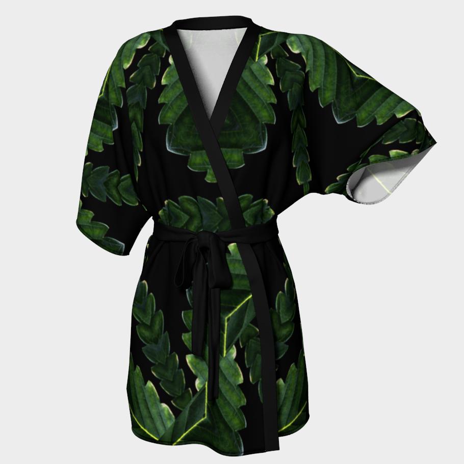 Cannabis Leaf Kimono Robe / $90