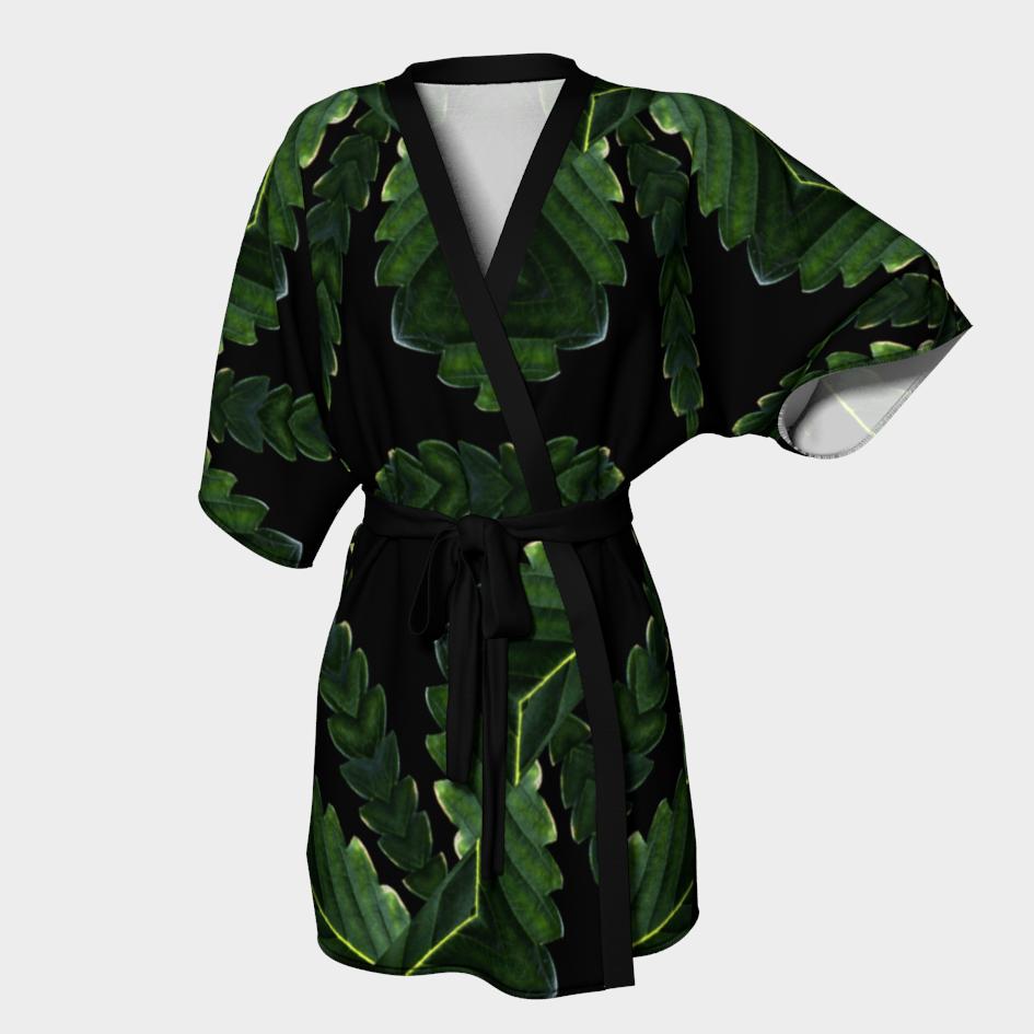 Canna Leaf Kimono Robe / $90