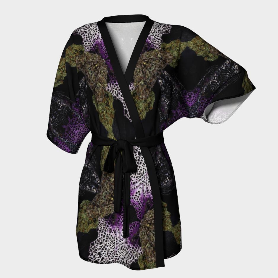 Buds & Corals Kimono Robe / $90