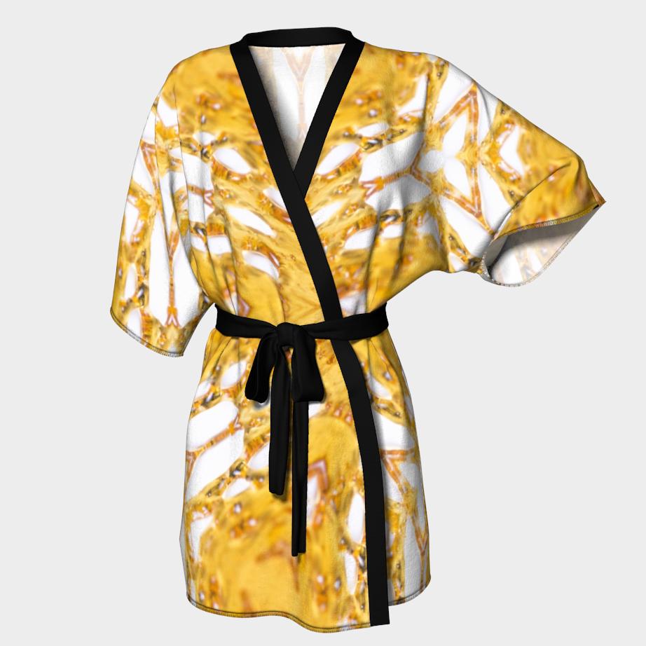 White Shatter Kimono Robe/ $90