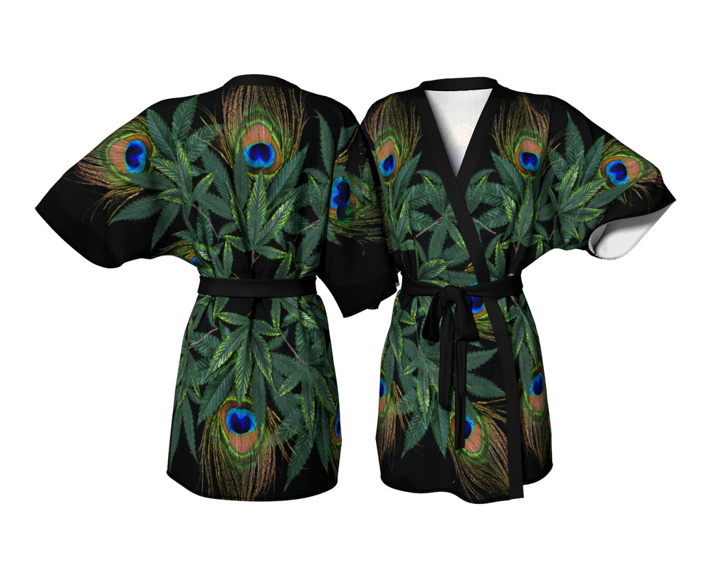 Peacock Nest Kimono / $90