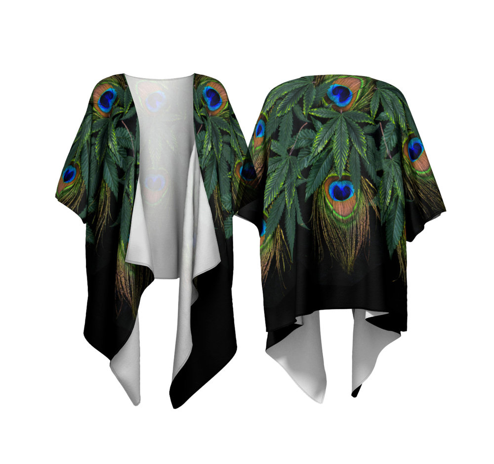 Peacock Draped Shawl