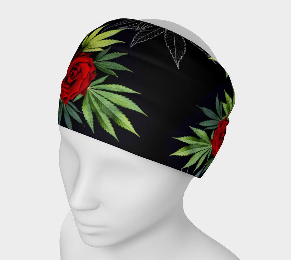 Canna Rose Headband