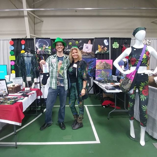 We are all set up @victoriawomensexpo  Open all day today until 6pm and tomorrow 10am-5pm at Pearkes Recreation Centre in beautiful Victoria BC  We got awesome 'Green' clothing to make this St. Patties Day extra special!!! #chroniccanvas #killthestigma #plantsoverpills #victoriawomensexpo #Victoria #britishcolumbia #pearkesrecreationcentre #stpatricksday #greenclothes