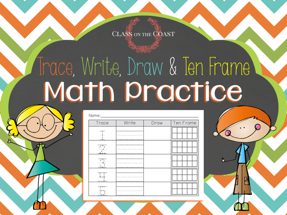 Trace, Write, Draw & Ten Frame Math Practice