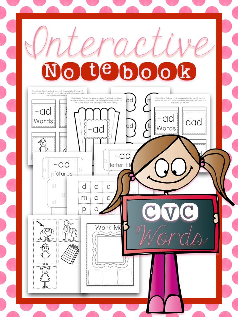 Interactive Notebook CVC Words Bundle
