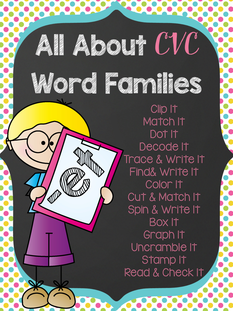 All About the CVC Word Families -ET