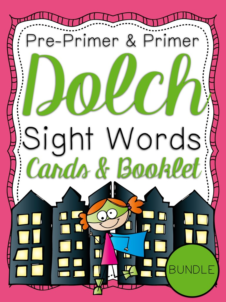 Primer Dolch Sight Word Cards and Booklet - Superhero Theme PIC.001.jpg