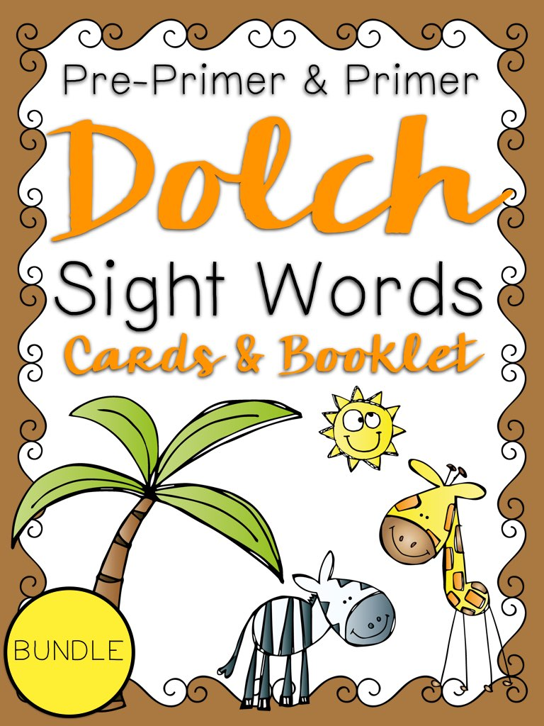 Primer Dolch Sight Word Cards and Booklet - Jungle Theme PIC.001.jpg