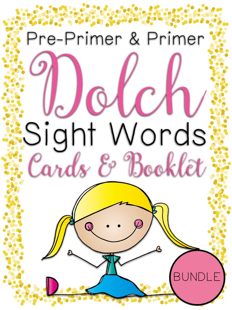 Primer Dolch Sight Word Cards and Booklet - Confetti Kids Theme PIC.001.jpg