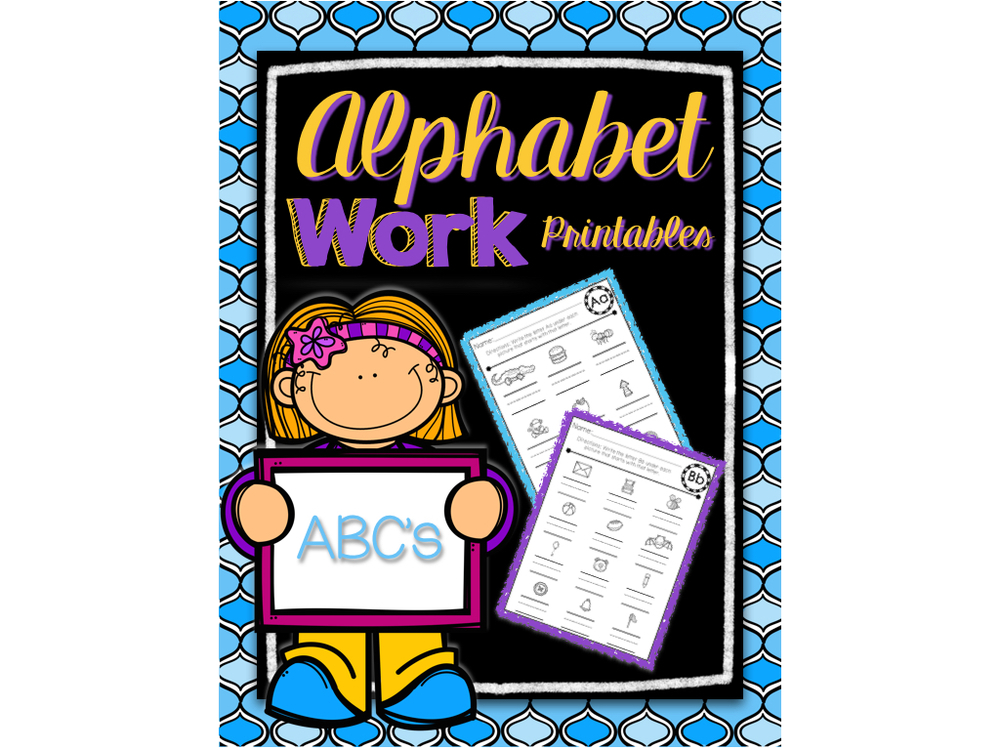 Alphabet Work Printables