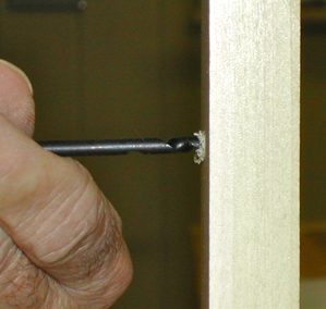 Figure 3- The auger-style threads pull and eject wood chips as the gimlet makes a hole