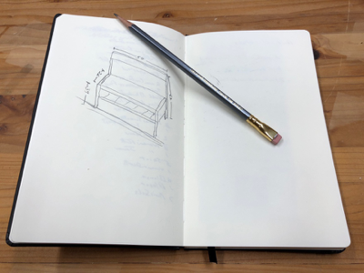 """Figure 2- I'm a """"note-taker"""" and sketcher, so I treated myself to the matching Blackwing notebook. The paper is nice, and there is even a loop to hold your Blackwing 602 pencil at-the-ready. A nice touch!"""