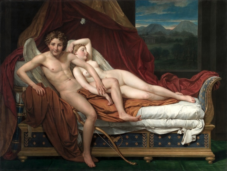 Jean Louis David,  Cupid and Psyche , Cleveland Museum of Art, Cleveland OH