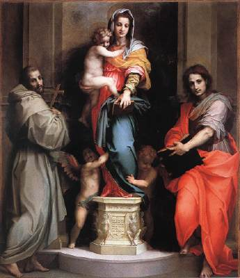 Andrea del Sarto,  Madonna of the Harpies , Uffizi Museum, Florence, Italy