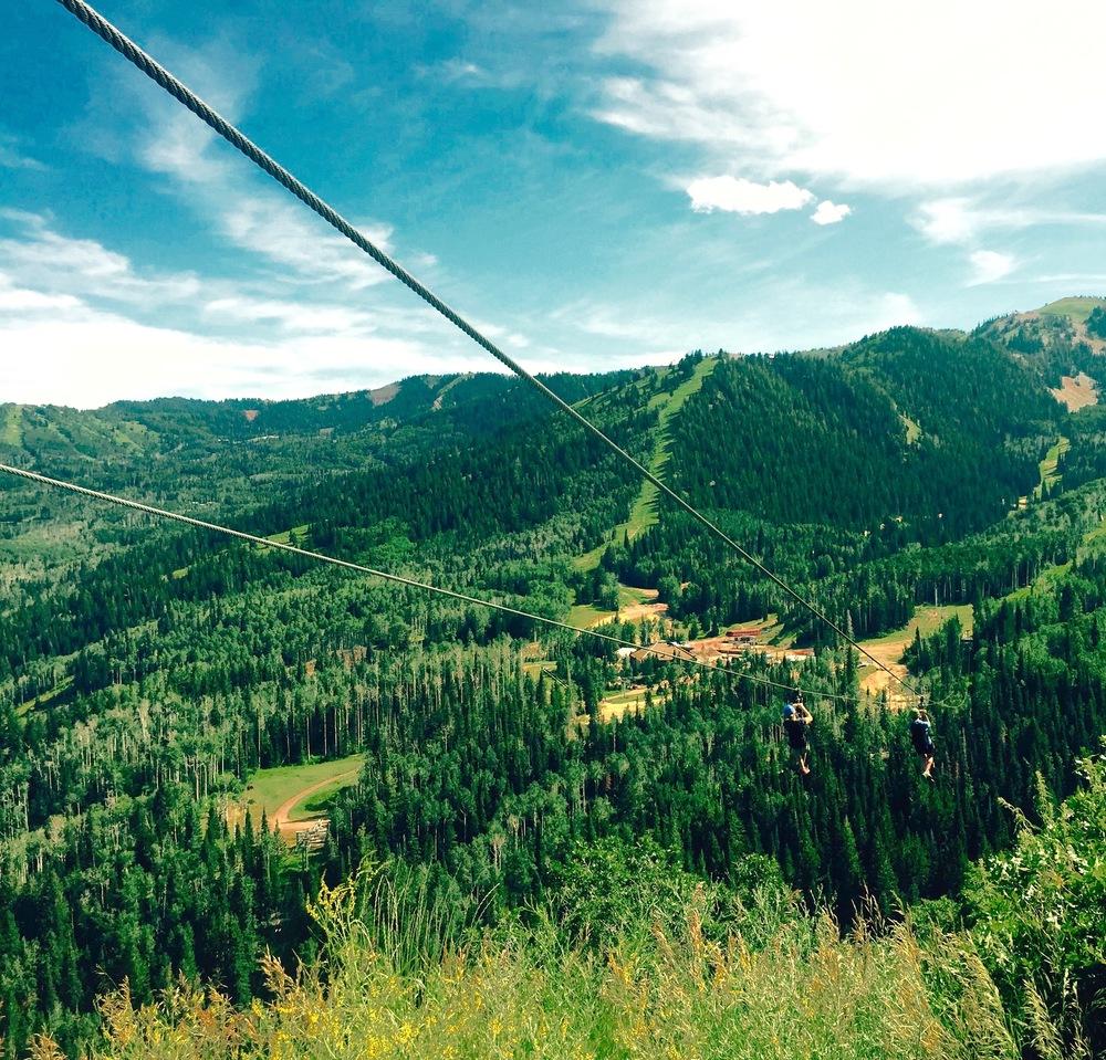 Wheeeeeeeee! Ziplining in Utah, 2015