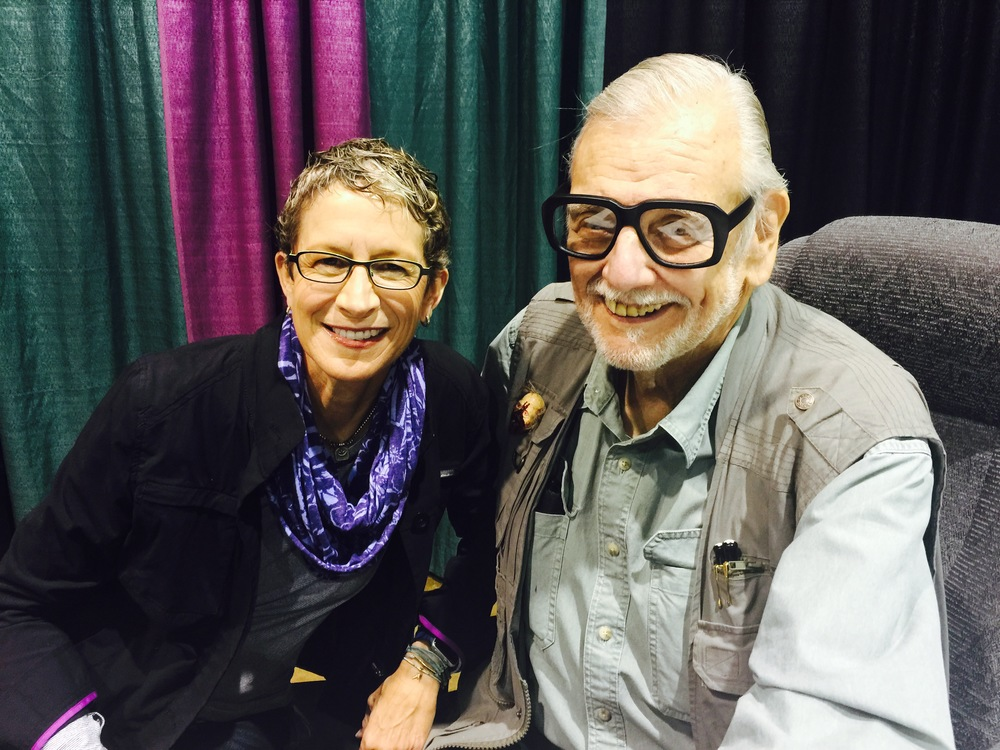 With the very not-scary George Romero.