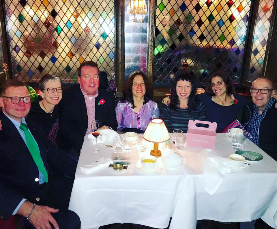 Bryan, Victoria, Greg, Beatriz, Lucy, Nancy, Peter at The Ivy, London