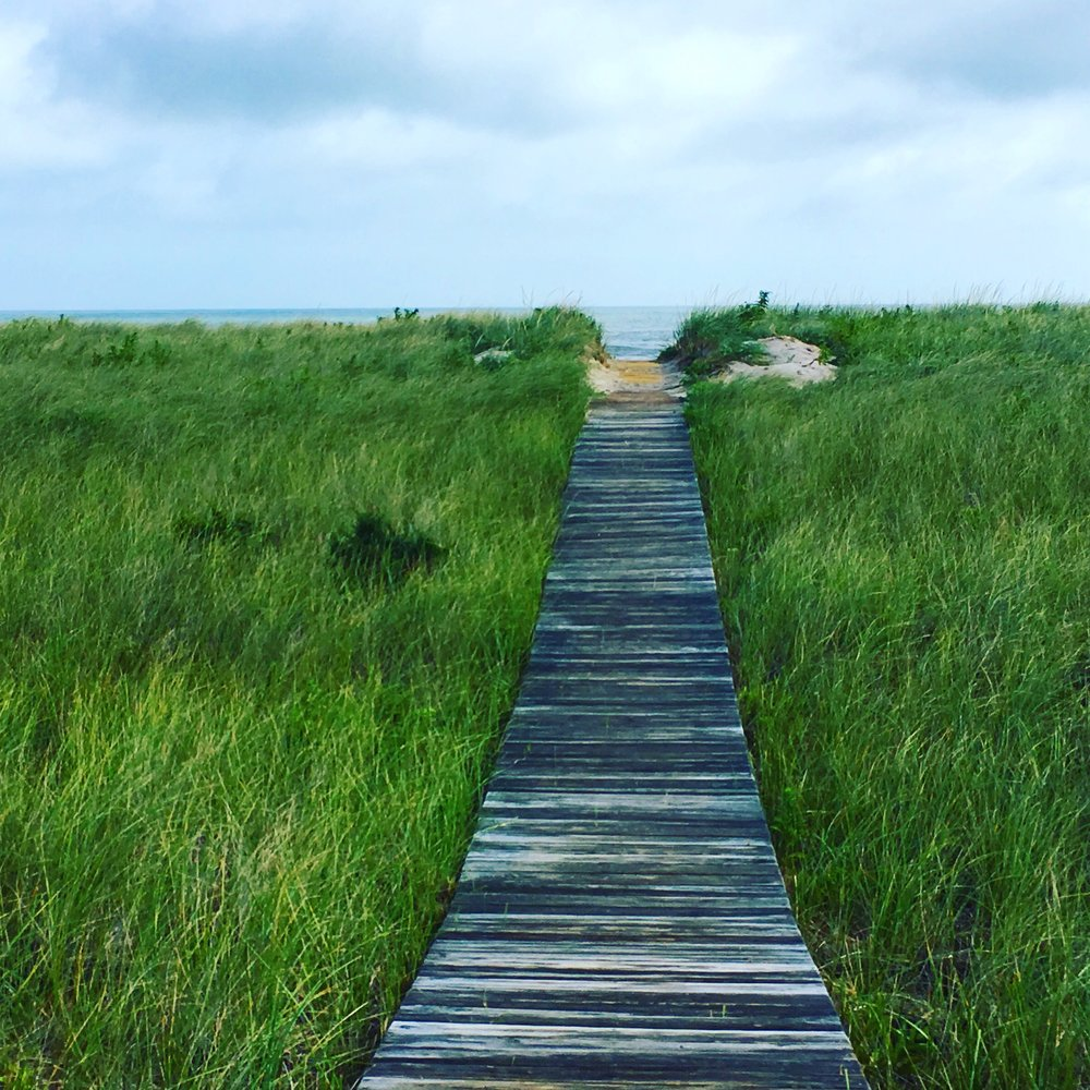 The Way to Blue: Every time I walked to the beach, my heart leapt in joy as I glimpsed the ocean on this path!