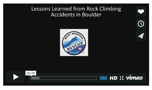 (2012) Learning from the Mistakes of Others: Causes of Climbing Accidents in Boulder, Colorado