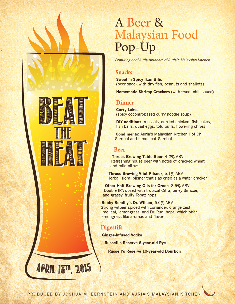 Beat the Heat - Event Graphic