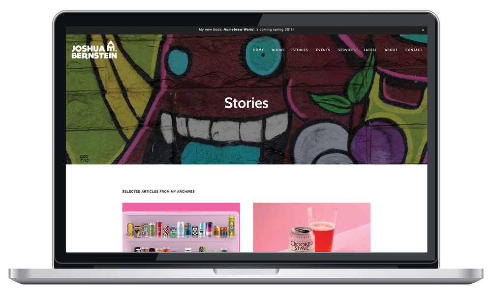 Squarespace stories page